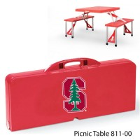 Stanford University Printed Picnic Table Red