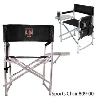 Texas A&M Embroidered Sports Chair Black