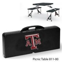 Texas A&M Printed Picnic Table Black