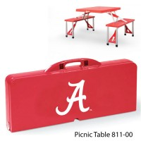 University of Alabama Printed Picnic Table Red