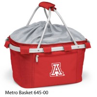 University of Arizona Embroidered Metro Basket Picnic Basket Red