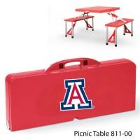 University of Arizona Printed Picnic Table Red