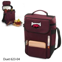 Arkansas at Fayetteville Printed Duet Tote Burgundy