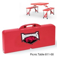 Arkansas at Fayetteville Printed Picnic Table Red