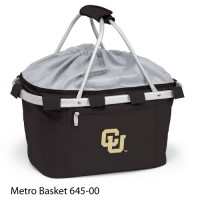 University of Colorado Embroidered Metro Basket Picnic Basket Black