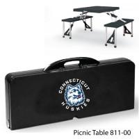 Connecticut University Printed Picnic Table Black