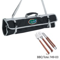 University of Florida Printed 3 Piece BBQ Tote BBQ set Black