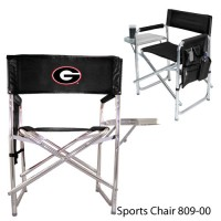 University of Georgia Printed Sports Chair Black