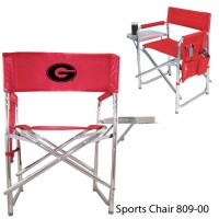 University of Georgia Embroidered Sports Chair Red