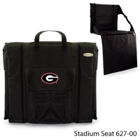 University of Georgia Printed Stadium Seat Black