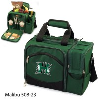 Hawaii University Printed Malibu Picnic Pack Hunter Green