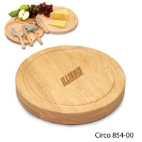 University of Illinois Engraved Circo Cutting Board Natural