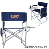 University of Illinois Embroidered Sports Chair Navy