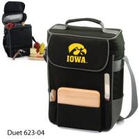 University of Iowa Printed Duet Tote Black