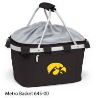 University of Iowa Embroidered Metro Basket Picnic Basket Black