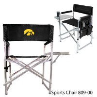 University of Iowa Embroidered Sports Chair Black