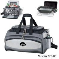 University of Iowa Embroidered Vulcan BBQ grill Grey/Black