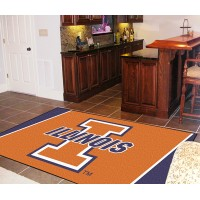 University of Illinois 4 x 6 Rug