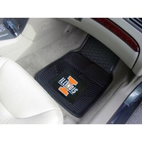 University of Illinois Heavy Duty 2-Piece Vinyl Car Mats