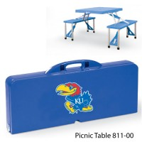 University of Kansas Printed Picnic Table Royal Blue