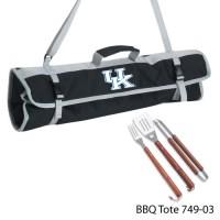 University of Kentucky Printed 3 Piece BBQ Tote BBQ set Black