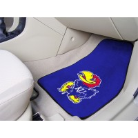University of Kansas 2 Piece Front Car Mats