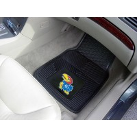 University of Kansas Heavy Duty 2-Piece Vinyl Car Mats