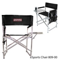 Louisiana University Lafayette Embroidered Sports Chair Black