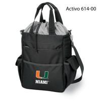 University of Miami Printed Activo Tote Black