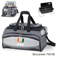 University of Miami Printed Buccaneer Cooler Grey/Black