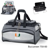 University of Miami Embroidered Buccaneer Cooler Grey/Black