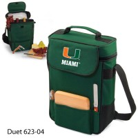 University of Miami Printed Duet Tote Hunter Green