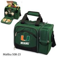 University of Miami Printed Malibu Picnic Pack Hunter Green