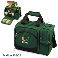 University of Miami Embroidered Malibu Picnic Pack Hunter Green
