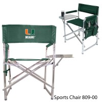 University of Miami Printed Sports Chair Hunter Green
