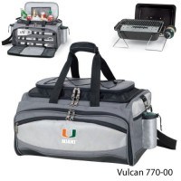 University of Miami Embroidered Vulcan BBQ grill Grey/Black