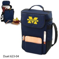 University of Michigan Printed Duet Tote Navy
