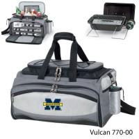 University of Michigan Printed Vulcan BBQ grill Grey/Black