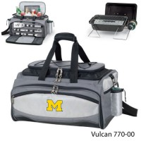 University of Michigan Embroidered Vulcan BBQ grill Grey/Black