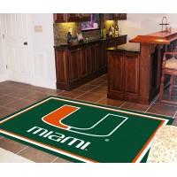 University of Miami  5 x 8 Rug