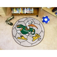 University of Miami Soccer Ball Rug