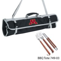 University of Minnesota Printed 3 Piece BBQ Tote BBQ set Black