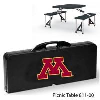 University of Minnesota Printed Picnic Table Black