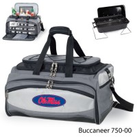 University of Mississippi Printed Buccaneer Cooler Grey/Black