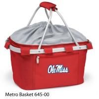 University of Mississippi Embroidered Metro Basket Picnic Basket Red