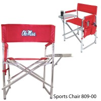University of Mississippi Embroidered Sports Chair Red