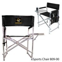 University of Missouri Embroidered Sports Chair Black