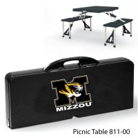 University of Missouri Printed Picnic Table Black