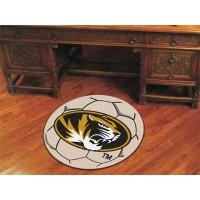 University of Missouri Soccer Ball Rug