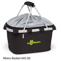 University of Oregon Embroidered Metro Basket Picnic Basket Black
